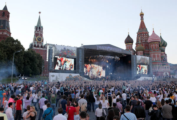 Linkin Park performs at 'Transformers 3: Dark of the Moon' event in Moscow, Russia on June 23, 2011.