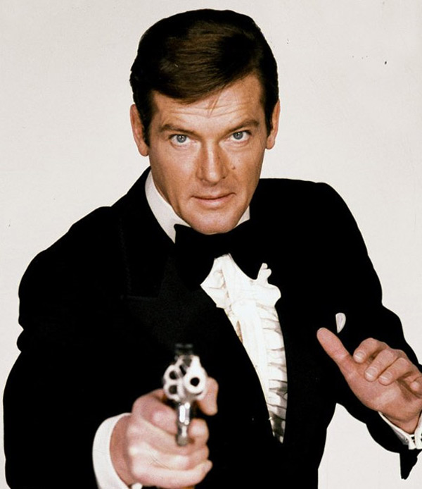 Pictured: Roger Moore appears in a promotional photo for the 1973 film 'Live and Let Die.'