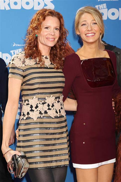 Blake Lively of &#39;Gossip Girl&#39; fame and sister Robyn Lively appear at the premiere of &#39;The Croods,&#39; featuring the voice of Blake&#39;s husband Ryan Reynolds, in New York on March 10, 2013. <span class=meta>(Dave Allocca &#47; Startraksphoto.com)</span>