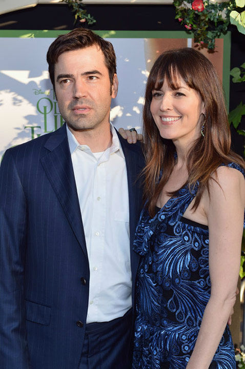 Ron Livingston and Rosemarie DeWitt arrive at...