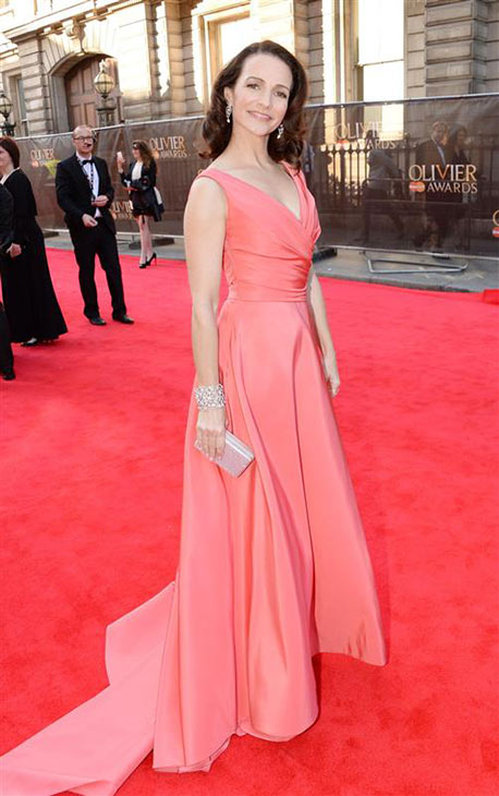 Kristin Davis &#40;Charlotte in &#39;Sex and the City&#39;&#41; appears at the 2014 Laurence Olivier Awards in London on April 13, 2014. She is wearing a Monique Lhuillier Spring 2014 gown. She stars in the London theatre production of &#39;Fatal Attraction.&#39; <span class=meta>(Richard Young &#47; Rex &#47; Startraksphoto.com)</span>