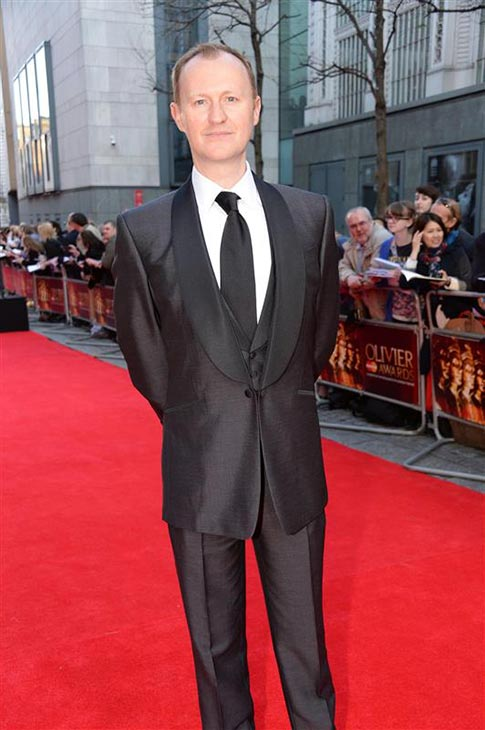 Mark Gatiss &#40;Mycroft Holmes on BBC&#39;s &#39;Sherlock,&#39; also the show&#39;s co-creator&#41; appears at the 2014 Laurence Olivier Awards in London on April 13, 2014. He was nominated for his role in the Shakespeare play &#39;Coriolanus.&#39; <span class=meta>(Richard Young &#47; Rex &#47; Startraksphoto.com)</span>