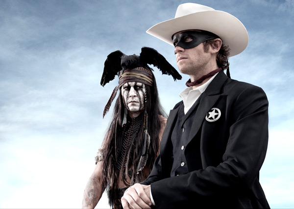Johnny Depp and Armie Hammer appear in a promotional photo for the 2013 movie The Lone Ranger. - Provided courtesy of Peter Mountain / Walt Disney Company
