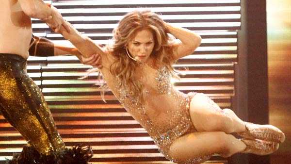 "<div class=""meta image-caption""><div class=""origin-logo origin-image ""><span></span></div><span class=""caption-text"">Jennifer Lopez turns 43 on July 24, 2012. The actress and singer is currently touring with Enrique Iglesias and recently announced she is leaving her job as an 'American Idol' judge after two seasons.(Pictured: Jennifer Lopez appears in a photo from her performance at the American Music Awards on November 20, 2011.) (ABC)</span></div>"