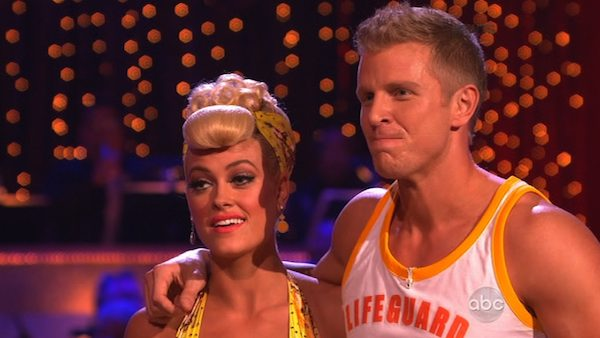 Former 'Bachelor' star Sean Lowe and his partner Peta Murgatroyd appear on week 2 of 'Dancing With The Stars,' which aired on March 25, 2013.