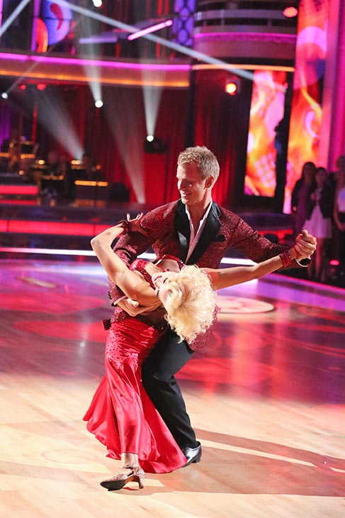 Former 'Bachelor' star Sean Lowe and his partner Peta Murgatroyd dance on the season 16 premiere of 'Dancing With The Stars' on March 18, 2013.