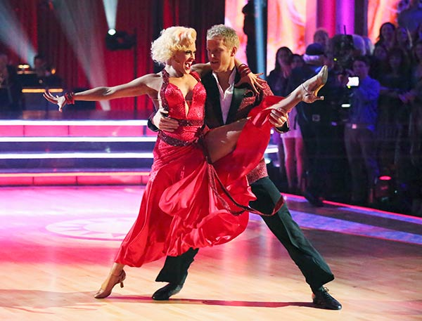 "<div class=""meta ""><span class=""caption-text "">Former 'Bachelor' star Sean Lowe and his partner Peta Murgatroyd received 19 out of 30 points from the judges for their Foxtrot routine on the season premiere of 'Dancing With The Stars,' which aired on March 18, 2013. (ABC Photo)</span></div>"