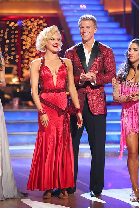 "<div class=""meta image-caption""><div class=""origin-logo origin-image ""><span></span></div><span class=""caption-text"">Former 'Bachelor' star Sean Lowe and his partner Peta Murgatroyd received 19 out of 30 points from the judges for their Foxtrot routine on the season premiere of 'Dancing With The Stars,' which aired on March 18, 2013. (ABC Photo)</span></div>"