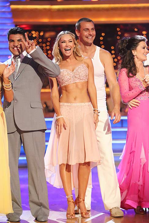 Former 'Bachelor' star Sean Lowe and his partner Peta Murgatroyd appear on the season 16 premiere of 'Dancing With The Stars' on March 18, 2013.