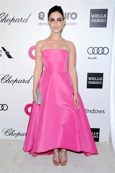 Jessica Lowndes appears at the 2014 Elton John AIDS Foundation&#39;s Oscar party in Los Angeles, California on March 2, 2014. <span class=meta>(HOLLYWOOD PRESS &#47; Abusa&#47; Startraksphoto.com)</span>