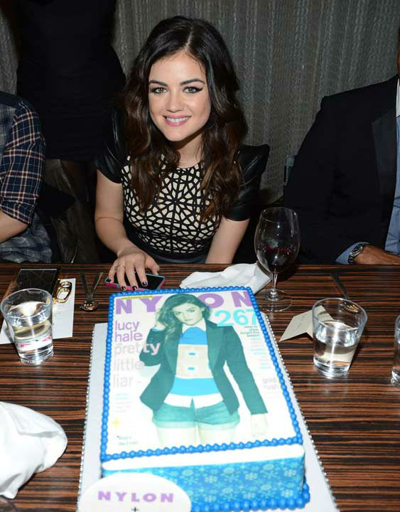 Lucy Hale attends the launch party for Nylon...