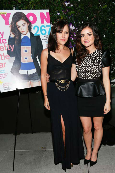 Lucy Hale and Zelda Williams attend the launch party for Nylon Magazine&#39;s December&#47;January 2013 issue at The Wine Gallery at The Andaz West Hollywood on Dec. 7, 2012. <span class=meta>(Photo&#47;WireImage)</span>