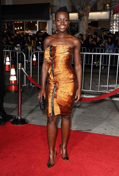 Lupita Nyong'o of '12 Years A Slave' appears at the premiere of 'Non-Stop' in Los Angeles on Feb. 24, 2014.