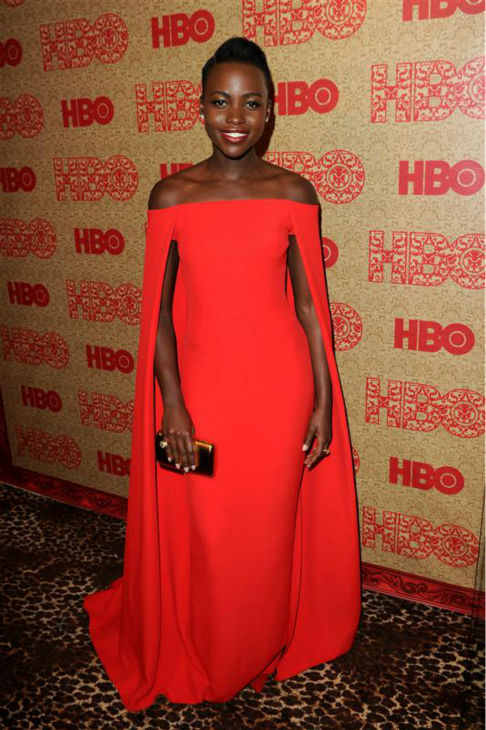 Lupita Nyong&#39;o &#40;nominated for &#39;12 Years A Slave&#39;&#41; appears at HBO&#39;s 2014 Golden Globe Awards after party at the Circa 55 restaurant in Beverly Hills, California on Jan. 12, 2014. Sosie is Miss Golden Globe 2014. <span class=meta>(Tony DiMaio &#47; Startraksphoto.com)</span>