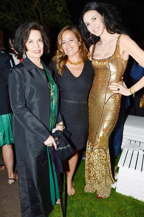 L&#39;Wren Scott appears with partner Mick Jagger&#39;s ex-wife Bianca Jagger and her daughter Jade Jagger at the 2013 Serpentine Summer Party at the Serpentine Pavillion in London on June 26, 2013. <span class=meta>(Richard Young &#47; Rex &#47; Startraksphoto.com)</span>