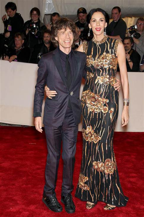 L&#39;Wren Scott appears with partner Mick Jagger at the Alexander McQueen - Savage Beauty Costume Institute Gala at the Metropolitan Museum Of Art in New York on May 2, 2011. <span class=meta>(Marion Curtis &#47; Startraksphoto.com)</span>