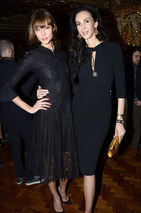 L&#39;Wren Scott appears with Victoria&#39;s Secret model Karlie Kloss at her own dinner at Cafe Royal during Fall-Winter 2013 Fashion Week in London on Feb. 17, 2013. <span class=meta>(Richard Young &#47; Rex &#47; Startraksphoto.com)</span>