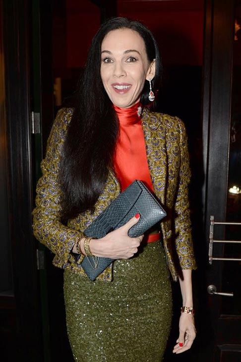 L&#39;Wren Scott appears at Vogue&#39;s dinner during 2013 London Fashion Week at Balthazar in London on Sept. 15, 2013. <span class=meta>(Richard Young &#47; Rex &#47; Startraksphoto.com)</span>