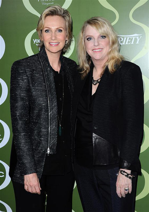 Jane Lynch and sister Julie Doyle appear at the Variety and Women In Film Pre-Emmys 2013 event at Scarpetta at Montage Beverly Hills in Beverly Hills, California on Sept. 20, 2013. <span class=meta>(Sara De Boer &#47; Startraksphoto.com)</span>