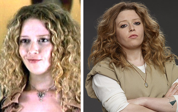 Natasha Lyonne appears in a scene from 'American Pie' in 1999. / Natasha Lyonne appears in a promotional photo for 'Orange Is The New Black' in 2013