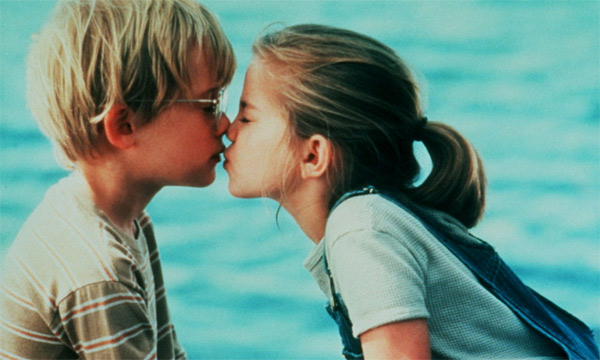 Macaulay Culkin and Anna Chlumsky appear in a scene from the 1991 movie 'My Girl.'