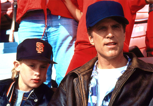Macaulay Culkin and Ted Danson appear in a scene from the 1994 film &#39;Getting Even With Dad.&#39; Danson plays a crook whose teenage son, Timmy, shows up unexpectedly at his house just before he plans to carry out a coin heist. When Timmy foils his plan and attempts to blackmail him by demanding father-son activities, hijinks ensue. <span class=meta>(Metro-Goldwyn-Mayer &#40;MGM&#41;)</span>