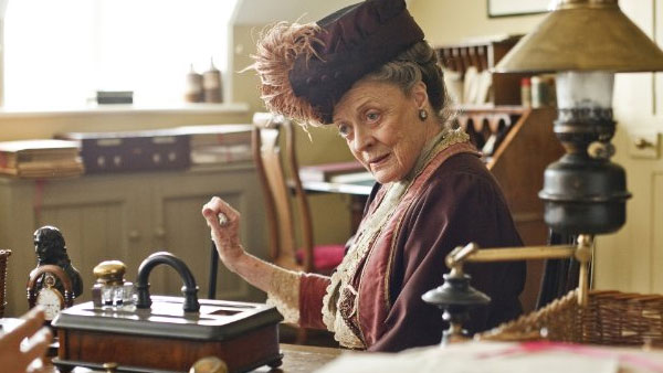 Maggie Smith appears in a photo from the television series 'Downton Abbey.'
