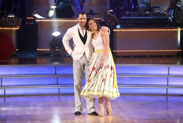 "<div class=""meta ""><span class=""caption-text "">Hope Solo returned to the ballroom for a final performance with partner Maksim Chmerkovskiy on 'Dancing With The Stars: The Results Show,' on Tuesday, November 22, 2011. (ABC / Adam Taylor)</span></div>"