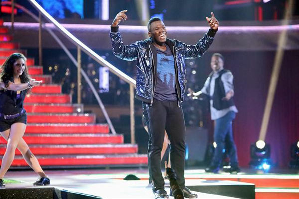 The season&#39;s first &#39;AT&#38; T Spotlight Performance&#39; on &#39;Dancing With The Stars: The Results Show&#39; on Tuesday, Oct. 9, 2012, featured Joshua Johnson, a young man who raised money to attend Penn State University by tap dancing on the New York City subway, holding out a hat for donations, after his mother had lost her job and the two had been living in homeless shelters for years. <span class=meta>(ABC Photo)</span>