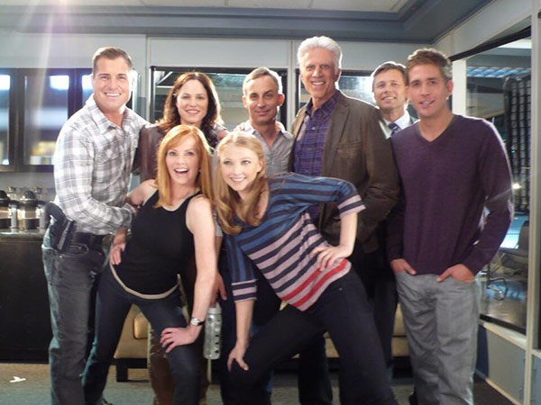 Marg Helgenberger posted this photo of herself with her former CSI cast members on Twitter on Aug. 20, 2013. That day, CBS announced that the actress would return to the show for its 300th episode. - Provided courtesy of twitter.com/MargHelgen / pic.twitter.com/LhCgb2yyE6