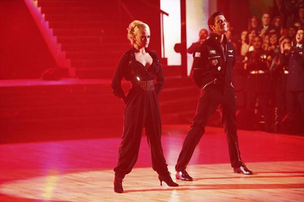 "<div class=""meta image-caption""><div class=""origin-logo origin-image ""><span></span></div><span class=""caption-text"">French actor Gilles Marini and his partner Peta Murgatroyd received 29.5 out of 30 points from the judges for their Quickstep on  'Dancing With The Stars: All-Stars,' which aired on November 12, 2012. (ABC / OTRC)</span></div>"