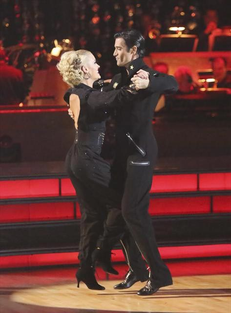French actor Gilles Marini and his partner Peta Murgatroyd received 29.5 out of 30 points from the judges for their Quickstep on  &#39;Dancing With The Stars: All-Stars,&#39; which aired on November 12, 2012. <span class=meta>(ABC &#47; OTRC)</span>
