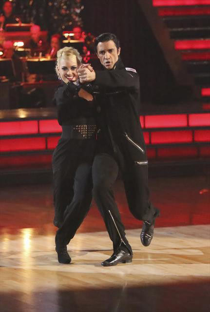 French actor Gilles Marini and his partner Peta Murgatroyd received 29.5 out of 30 points from the judges for their Quickstep on 
