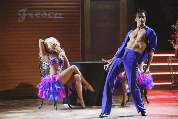 French actor Gilles Marini and his dance partners Peta Murgatroyd and Chelsie Hightower received 29 out of 30 points from the 