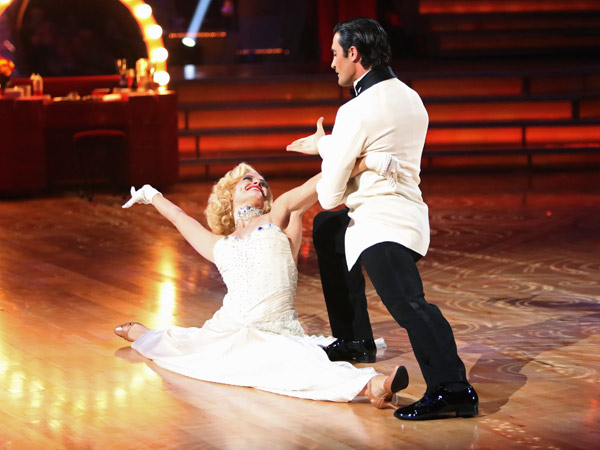"<div class=""meta image-caption""><div class=""origin-logo origin-image ""><span></span></div><span class=""caption-text"">French actor Gilles Marini and his partner Peta Murgatroyd received 24 out of 30 points from the judges for their Fox Trot on the season premiere of 'Dancing With The Stars: All-Stars,' which aired on September 24, 2012.  (ABC Photo/ Adam Taylor)</span></div>"