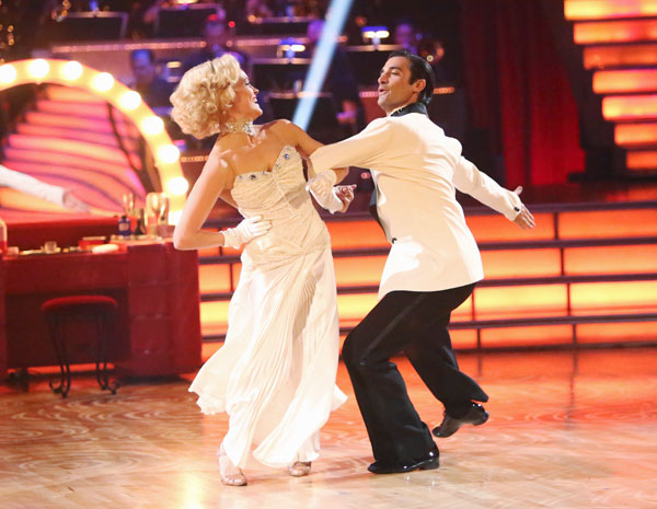 French actor Gilles Marini and his partner Peta Murgatroyd received 24 out of 30 points from the judges for their Fox Trot on the season premiere of &#39;Dancing With The Stars: All-Stars,&#39; which aired on September 24, 2012.  <span class=meta>(ABC Photo&#47; Adam Taylor)</span>