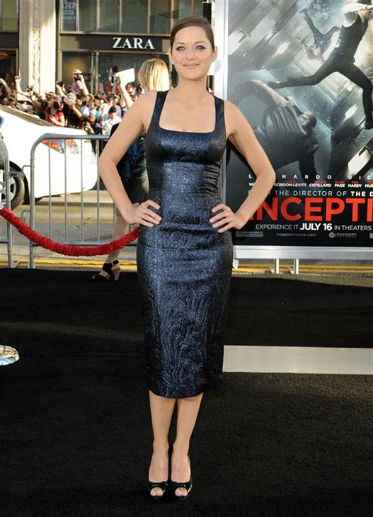 Marion Cotillard wears a glittering L&#39;Wren Scott dress at the premiere of &#39;Inception&#39; in Hollywood, California on July 13, 2010. <span class=meta>(Sara De Boer &#47; Startraksphoto.com)</span>