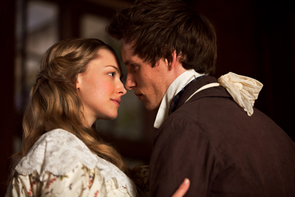 Amanda Seyfried and Eddie Redmayne appear as Cosette and Marius in a scene from the 2012 movie 'Les Miserables.'