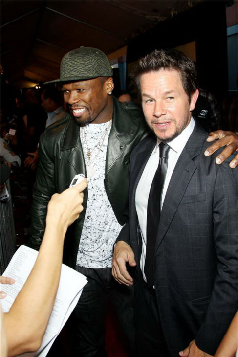 Mark Wahlberg and 50 Cent attend the premiere of the film &#39;2 Guns&#39; at the SVA Theatre in New York on July 29, 2013. <span class=meta>(Marion Curtis &#47; Startraksphoto.com)</span>