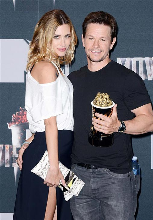 Mark Walhberg and wife Rhea Durham appear backstage at the 2014 MTV Movie Awards at the Nokia Theatre in Los Angeles on April 13, 2014. Wahlberg won the Generation award. <span class=meta>(Lionel Hahn &#47; AbacaUSA &#47; Startraksphoto.com)</span>