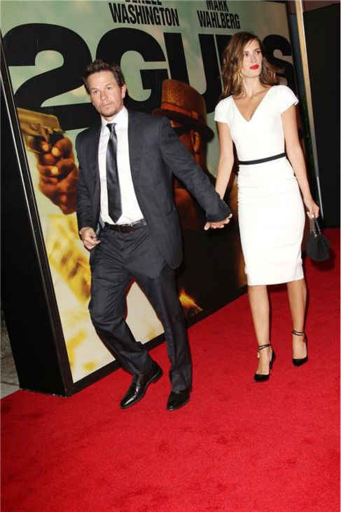 Mark Wahlberg and wife Rhea Durham attend the premiere of the film &#39;2 Guns&#39; at the SVA Theatre in New York on July 29, 2013. <span class=meta>(Kristina Bumphrey &#47; Startraksphoto.com)</span>