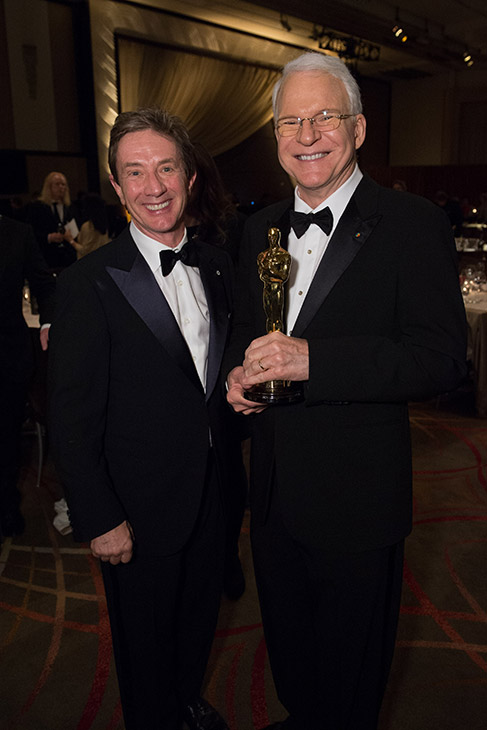 Honorary Award recipient Steve Martin appears with fellow &#39;Three Amigos!&#39; alum Martin Short at the 2013 Governors Awards at The Ray Dolby Ballroom at Hollywood and Highland Center in Hollywood, California on Saturday, Nov. 16, 2013. <span class=meta>(Richard Harbaugh &#47; A.M.P.A.S.)</span>