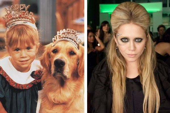 Mary-Kate Olsen appears as Michelle Tanner in a promotional photo for the TV series, 'Full House.' / Mary-Kate appears in a scene from the 2010 movie, 'Beastly.'