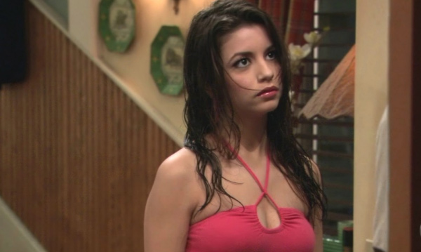 Masiela Lusha appears in a scene from the television show 'George Lopez.'