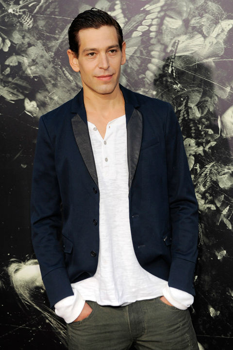 Matisyahu, a cast member in 'The Possession,' poses at the premiere of the film at Arclight Cinemas on Tuesday, Aug. 28, 2012, in Los Angeles.