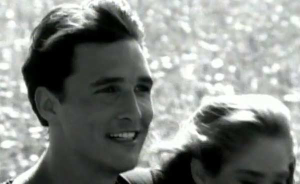 Matthew McConaughey appears in a scene from the 1992 music video 'Walkaway Joe.'