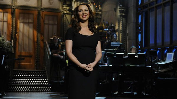 "<div class=""meta ""><span class=""caption-text "">Maya Rudolph as a host on 'Saturday Night Live' on being nominated for Outstanding Guest Actress In A Comedy Series:  'I had so much fun hosting- it was like coming home.  Getting to go back and play with your friends... there's nothing better. Hosting SNL was my childhood dream, while other kids were playing princess I was doing impressions of Roseanne Roseannadanna. This is an amazing honor and one I share with Lorne, and all the incredible cast and writers of SNL,' the actress said in a statement obtained by OnTheRedCarpet.   This is Rudolph's first Emmy nomination.  (Pictured: Maya Rudolph appears in a scene from 'Saturday Night Live.') (PBS)</span></div>"