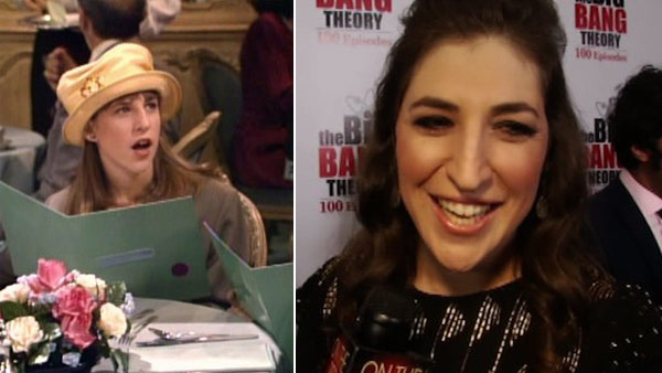 Mayim Bialik appears in a scene from the 1990s show 'Blossom.' / Mayim Bialik talks to OnTheRedCarpet.com on Dec. 15, 2011 at a Los Angeles party to celebrate the 100th episode of CBS series 'The Big Bang Theory.'