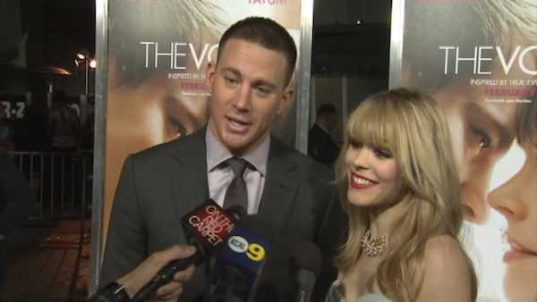 Rachel McAdams and Channing Tatum talk to OnTheRedCarpet.com at the premiere of their 2012 film 'The Vow.'
