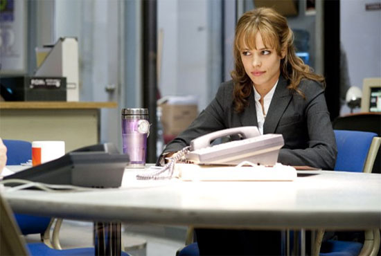 Rachel McAdams in a scene from the 2010 movie, 'Morning Glory.'
